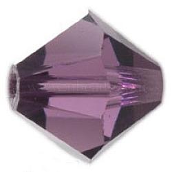Cristal autrichien bicolore couleur améthyste, 5301 6 mm, taille: environ 6 mm de long,  largeur de 6 mm, Trou: 1mm(X-5301_6mm204)