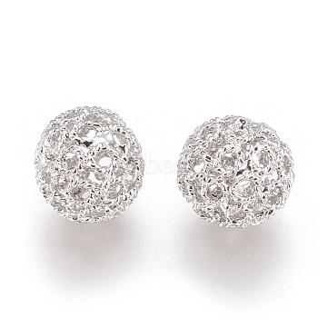 Platinum Round Brass Beads