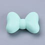29mm LightCyan Bowknot Silicone Beads(SIL-R006-64)