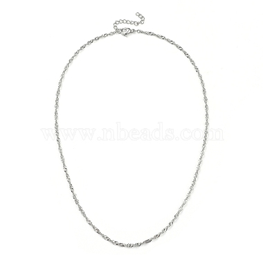 304 Stainless Steel Singapore Chain Necklaces(NJEW-JN02930-02)-1