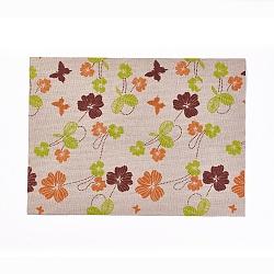 A4 autocollant de tissu auto-adhésif, enfants bricolage artisanat, motif de fleur, colorées, 29x21x0.05 cm(AJEW-WH0096-78I)