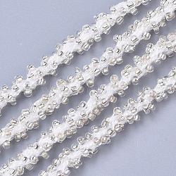 Cordons de perles de semences, avec des câblés en polyester, 6 pli, trou rond, palegoldenrod, 6 mm; environ 30 m / bundle(OCOR-R042-14)