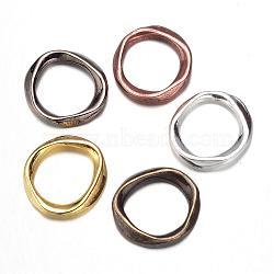 Anneaux connecteurs en alliage, anneau, sans cadmium et sans plomb, couleur mixte, 19x18x2.5mm, Trou: 13mm(PALLOY-N0141-10-RS)