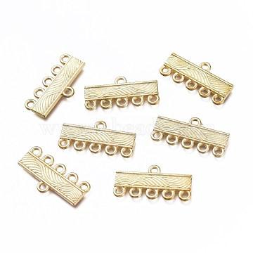 Rectangle Alloy Chandelier Components Links, Golden, 11x21x2mm, Hole: 1.5mm(PALLOY-J569-31G)
