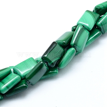 12mm Rectangle Malachite Beads