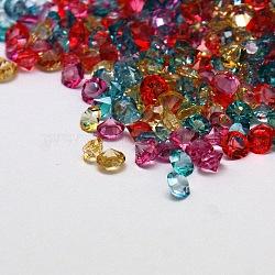 Cabochons en résine avec diamant à facettes, couleur mixte, 3x2 mm; environ 1440 pcs / 10 g(X-CRES-M006-12)