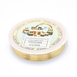 fil de bijoux de cuivre de l'environnement, plaqué longue durée, Jauge 26, 0.4 mm, 10 m / rouleau(X-CWIR-P001-01-0.4mm)