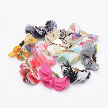 Mixed Color Flower Cloth Decoration
