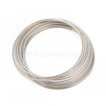Steel Bracelet Memory Wire 5.5CM,Wire : 18 Gauge,1.0mm,about 10 circles/set(X-MW5.5cm-1)
