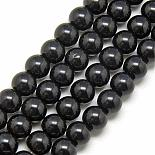 8mm Black Round Glass Beads(GR8mm27Y)