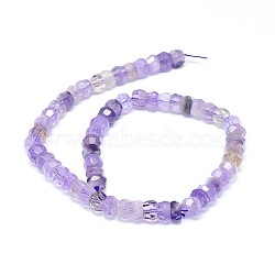Natural Amethyst Beads Strands, Faceted, Rondelle, 12x6mm, Hole: 0.8mm; about 63~66pcs/strand, 15.7''(40cm)