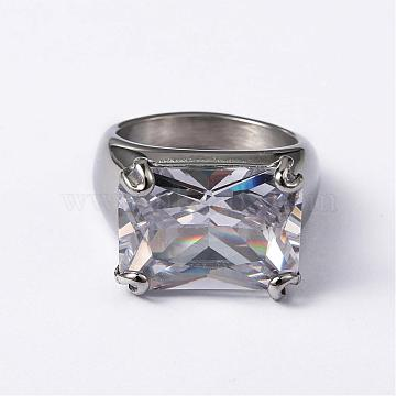 Clear Mixed Material Finger Rings