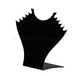 Stéréoscopiques verre organique colliers affiche, noir, 150x165x57mm(X-NDIS-N001-04)