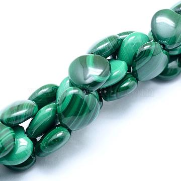 12mm Heart Malachite Beads