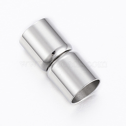 Fermoirs magnétiques en 304 acier inoxydable, colonne, couleur inoxydable, 19x9mm, Trou: 8mm(STAS-G179-37P-8mm)