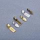 Tibetan Style Alloy Glue-on Flat Pad Bails(TIBE-PH0001-25-NF)-4