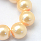 Baking Painted Pearlized Glass Pearl Round Bead Strands(X-HY-Q330-8mm-61)-3
