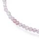 Natural Strawberry Quartz Bead Bracelets(BJEW-JB04555-05)-2
