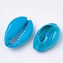 Deep Sky Blue Shell Cowrie Shell Beads(X-SHEL-S274-26E)