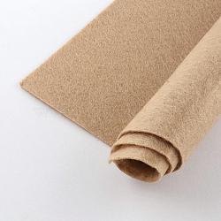 Feutre à l'aiguille de broderie de tissu non tissé pour l'artisanat de bricolage, carrée, burlywood, 298~300x298~300x1 mm; environ 50 PCs / sac(DIY-Q007-06)