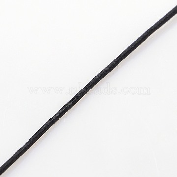 1mm Black Elastic Fibre Thread & Cord