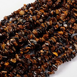 Natural Tiger Eye Beads Strands, 5~8mm, Hole: 0.3mm; 31