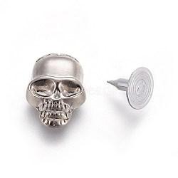 rivets de goujons en alliage, dos en aluminium, pour bricolage en cuir, crane, platine et argent, 16x11x5 mm, trou: 2 mm; vis: 7.5 mm; goupille: 2 mm(PALLOY-WH0056-01PS)