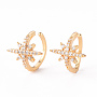 Clear Cubic Zirconia Earrings(EJEW-Q703-005-NF)