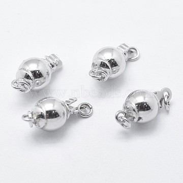 Platinum Round Sterling Silver Box Clasps
