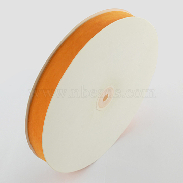 5/8 inch Single Face Velvet Ribbon, Orange, 5/8 inch(15.9mm), about 25yards/roll(22.86m/roll)(OCOR-R019-15.9mm-035)