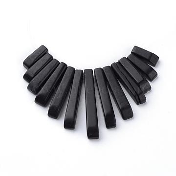 11mm Rectangle Black Stone Beads