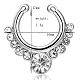 Personality Brass Cubic Zirconia Nose Studs Nose Piercing Jewelry(AJEW-EE0002-001P-01)-2