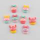 Scrapbook Embellishments Flatback Cute Cupcake with Bows Plastic Resin Cabochons(X-CRES-Q155-M)-1