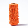 Cotton String Threads, Macrame Cord, Decorative String Threads, for DIY Crafts, Gift Wrapping and Jewelry Making, Orange Red, 3mm, about 109.36 yards(100m)/roll