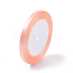"1/4"" (6mm) Lightsalmon satin ruban décoration de fête de mariage, 25yards / roll (22.86m / roll)(X-RC6MMY007)"