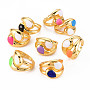Mixed Color Brass Finger Rings(RJEW-S045-079-NR)