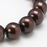 3mm SaddleBrown Round Glass Pearl Beads(HY-3D-B40)