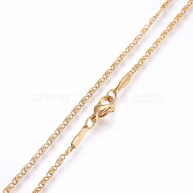 304 Stainless Steel Lumachina Chain Necklaces(NJEW-F248-17A-G)-2