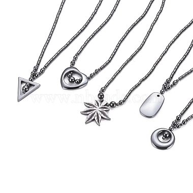 Non-magnetic Synthetic Hematite Necklaces(NJEW-G331-04)-1