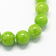 Natural Dyed Yellow Jade Gemstone Bead Strands(X-G-R271-8mm-Y12)-2
