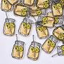 37mm LemonChiffon Bottle Plastic Cabochons(KY-T015-06)