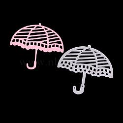 cadre de parapluie meurt en acier au carbone pochoirs, pour bricolage scrapbooking / album photo, carte de papier de bricolage décoratif, matte platine, 6x6.1x0.08 cm(DIY-F028-64)