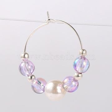 Lilac Acrylic Wine Glass Charms