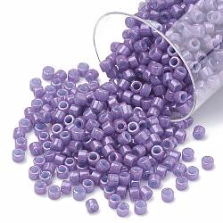 Miyuki® delica beads, perles de rocaille japonais, 11 / 0, (db 0660) orchidée foncée opaque teinte, 1x1.5 mm, trou: 0.5 mm; sur 2000 pcs / bouteille(SEED-S015-DB-0660)