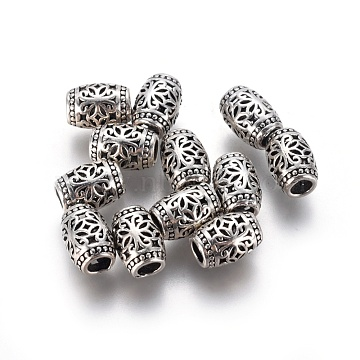 Antique Silver Barrel Thai Sterling Silver Beads