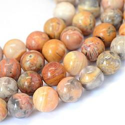 Natural Crazy Agate Round Bead Strands, 8~8.5mm, Hole: 1mm; about 47pcs/strand, 15.5inches