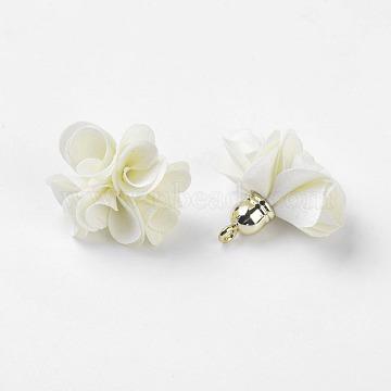 Creamy White Flower Cloth Pendants