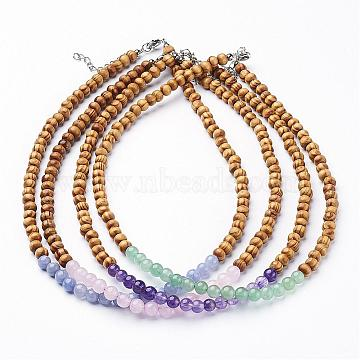 Mixed Color Wood Necklaces