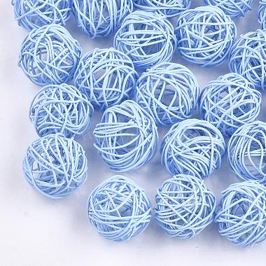 CornflowerBlue Round Iron Beads
