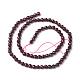 Chapelets de perles de grenat naturel(G-E302-085-4mm)-2